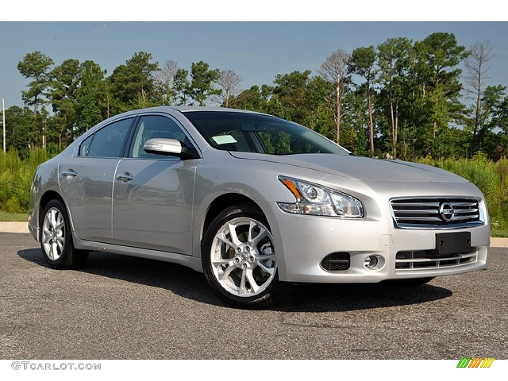 Brilliant Silver 2012 Nissan Maxima 3 5 Sv Exterior Photo