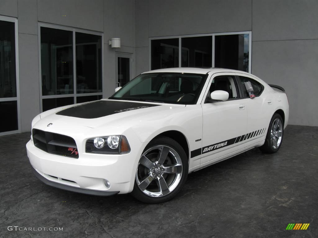 Stone white dodge charger