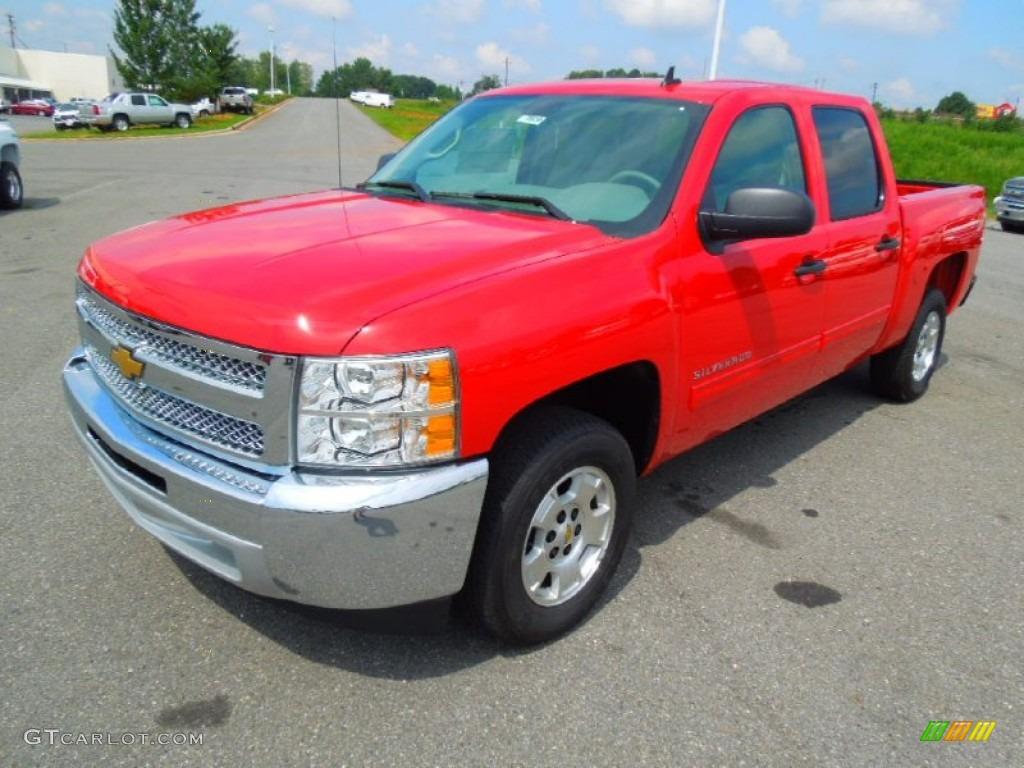 2012 Silverado 1500 LT Crew Cab - Victory Red / Light Titanium/Dark Titanium photo #1