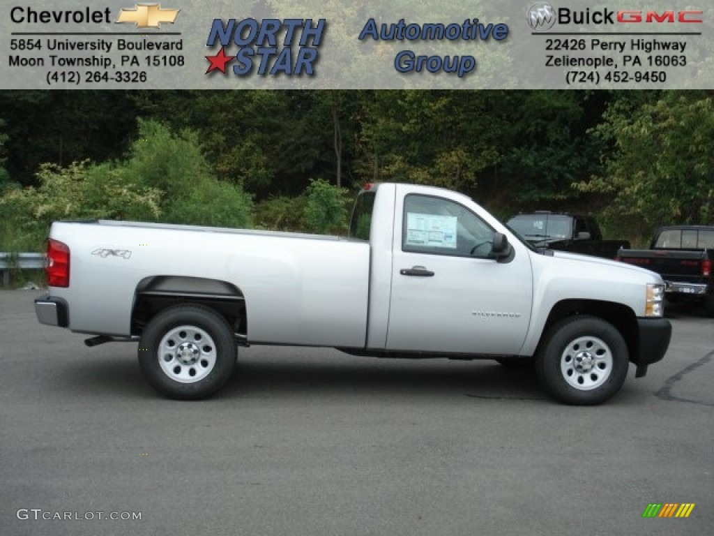 2013 Silverado 1500 Work Truck Regular Cab 4x4 - Silver Ice Metallic / Dark Titanium photo #1