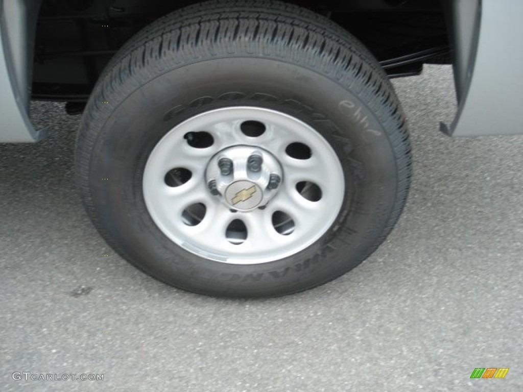 2013 Silverado 1500 Work Truck Regular Cab 4x4 - Silver Ice Metallic / Dark Titanium photo #9