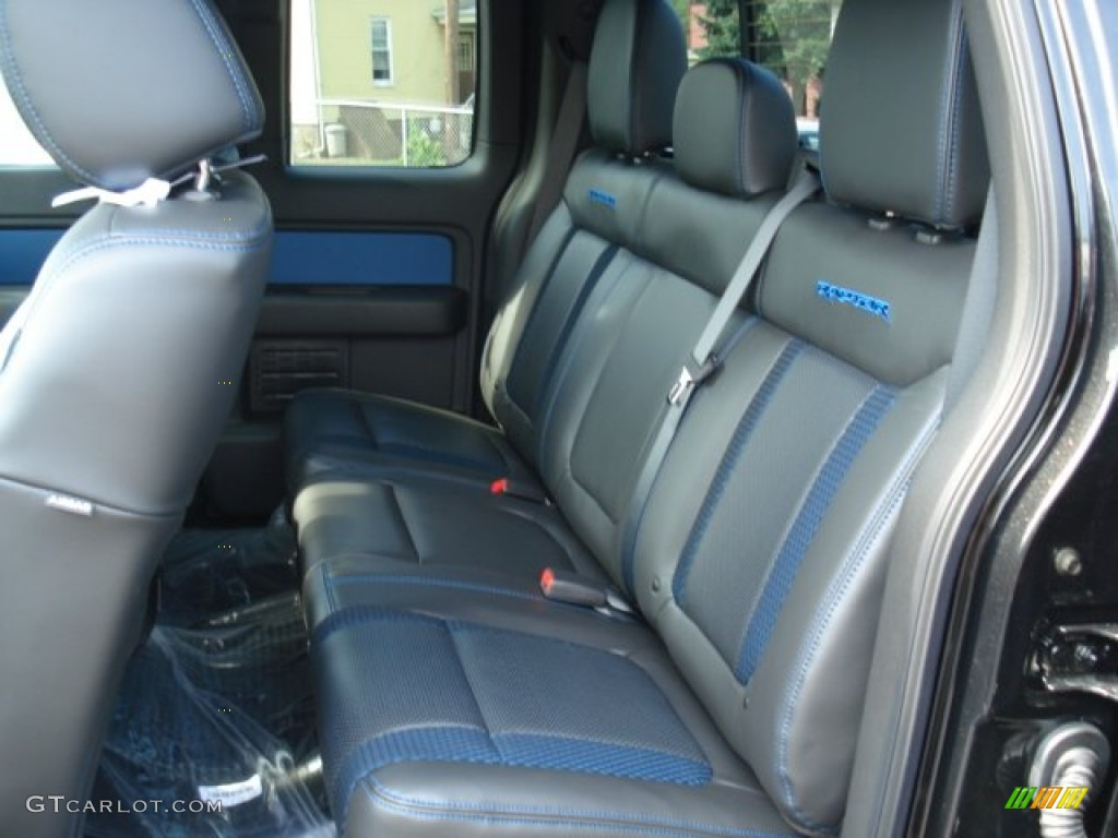 raptor black leathercloth with blue accent interior 2012 ford f150 svt raptor supercab 4x4