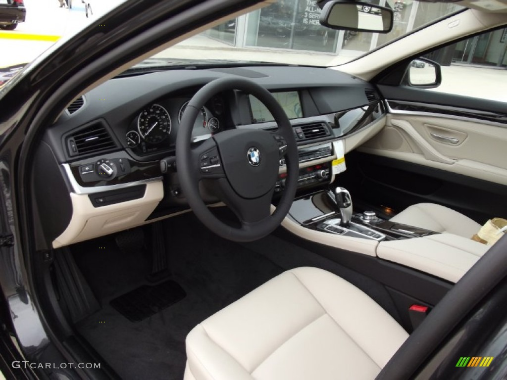 Oyster Black Interior 2013 Bmw 5 Series 535i Sedan Photo
