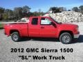 Fire Red 2012 GMC Sierra 1500 SL Extended Cab