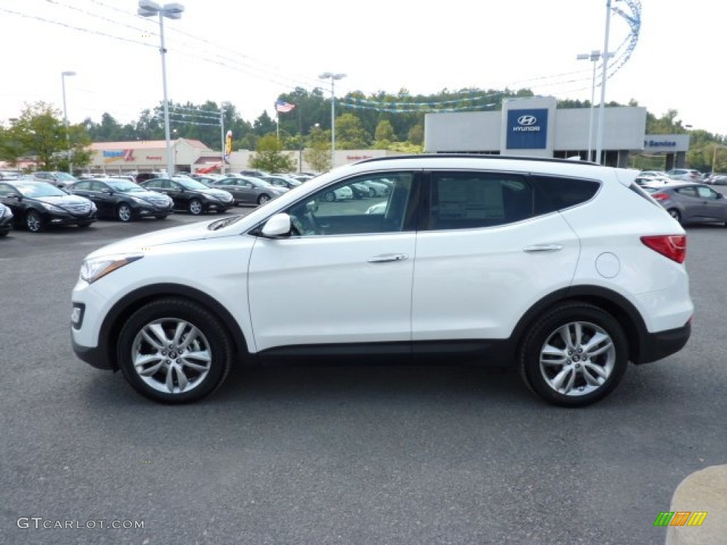 frost white pearl 2013 hyundai santa fe sport 2 0t awd. Black Bedroom Furniture Sets. Home Design Ideas