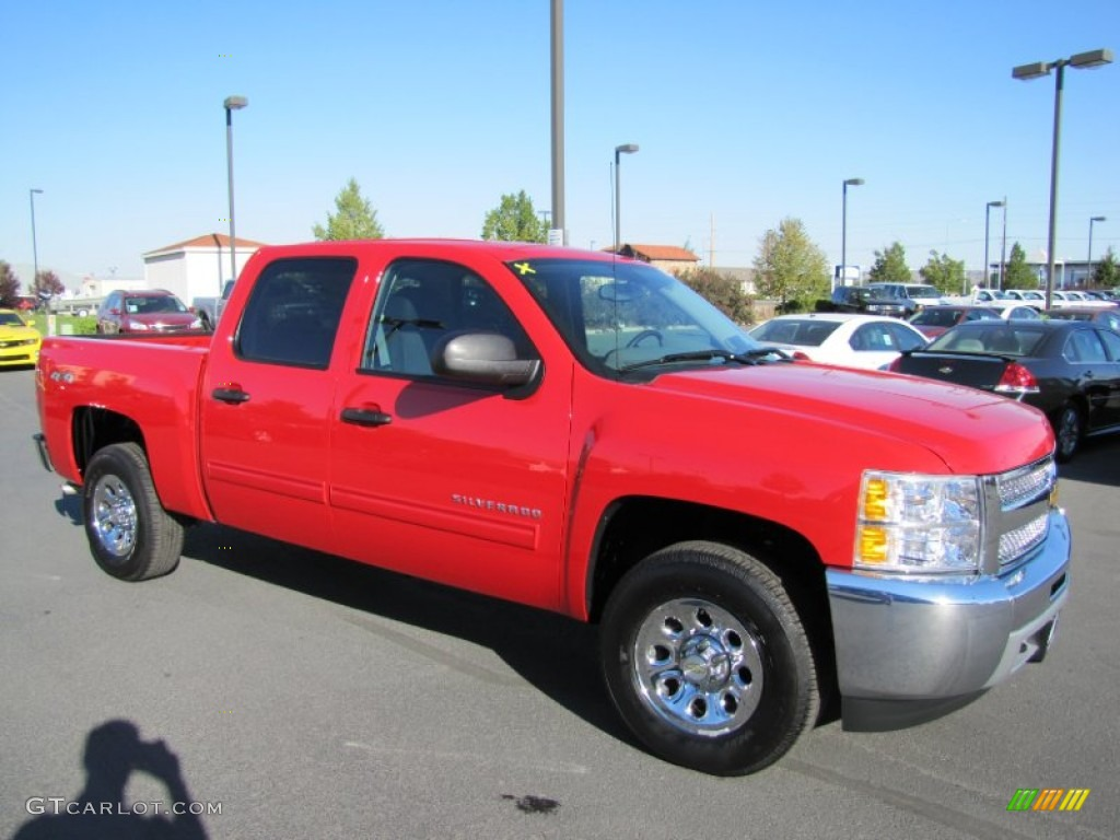 2012 Silverado 1500 LS Crew Cab 4x4 - Victory Red / Dark Titanium photo #1