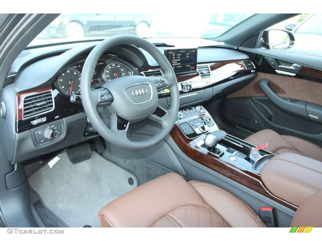 nougat brown interior 2013 audi a8 l 4 0t quattro photo 70023391. Black Bedroom Furniture Sets. Home Design Ideas