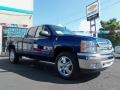 2013 Blue Topaz Metallic Chevrolet Silverado 1500 LT Extended Cab 4x4  photo #9