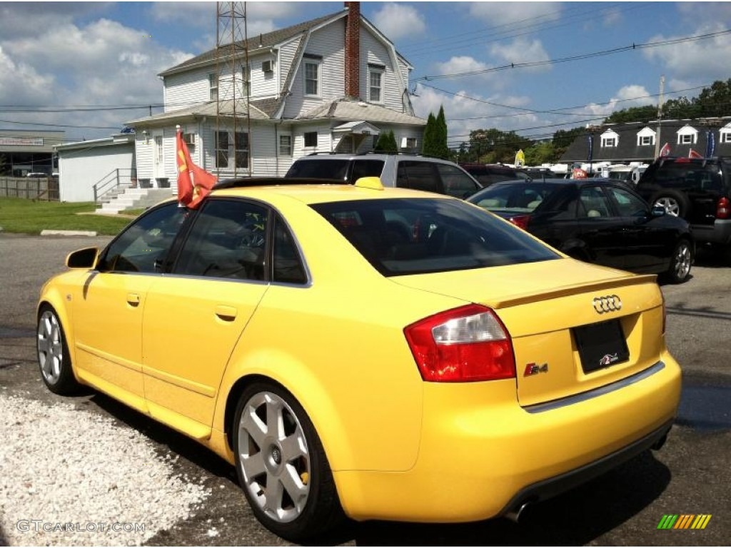 Imola Yellow 2004 Audi S4 4 2 Quattro Sedan Exterior Photo