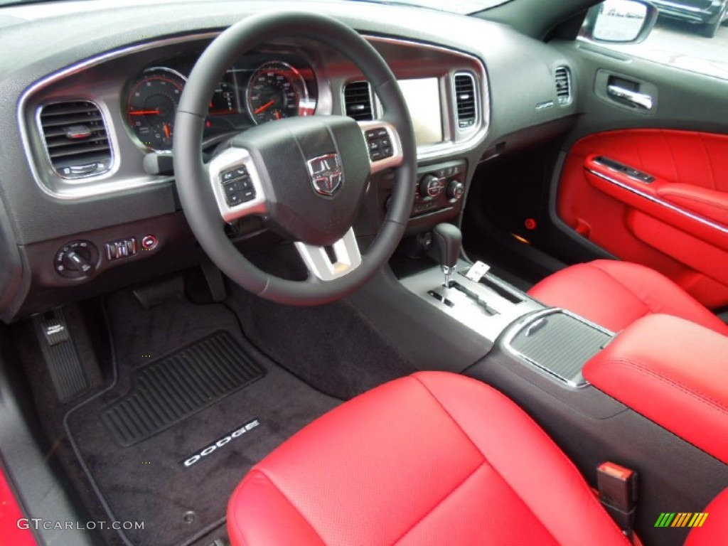 Black Red Interior 2013 Dodge Charger R T Photo 70076108