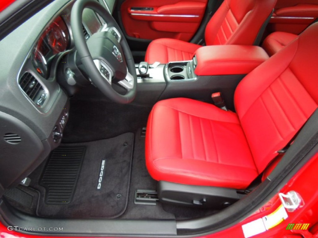 Black Red Interior 2013 Dodge Charger Sxt Photo 70076474
