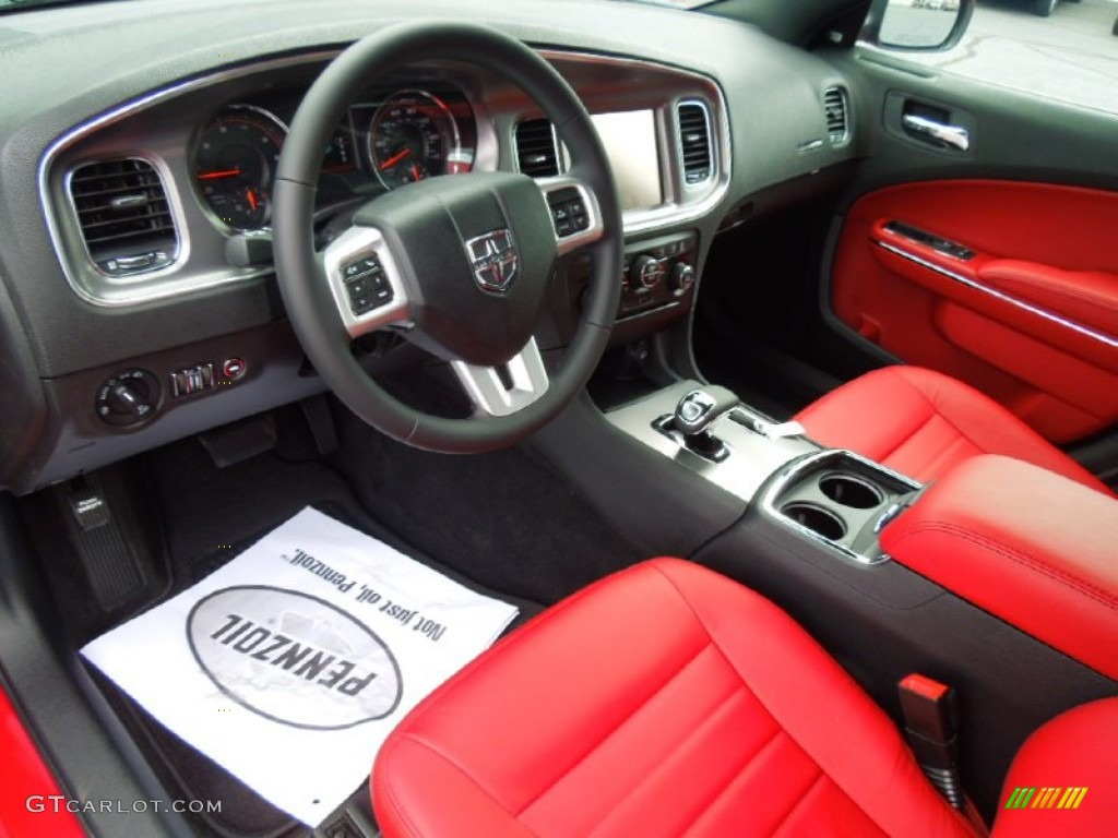 Black Red Interior 2013 Dodge Charger Sxt Photo 70076600
