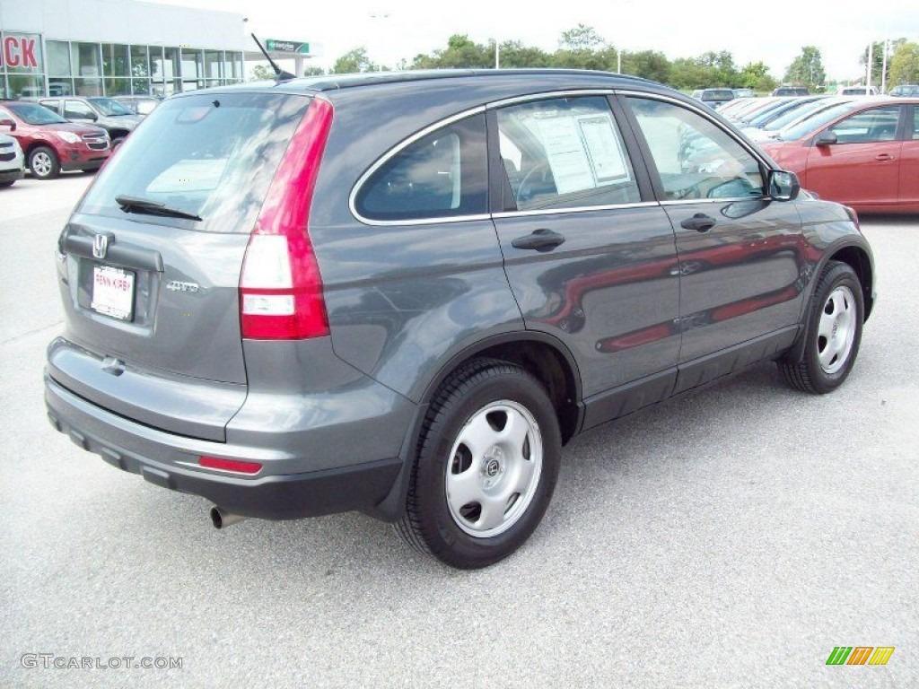 2011 CR-V LX 4WD - Polished Metal Metallic / Black photo #11