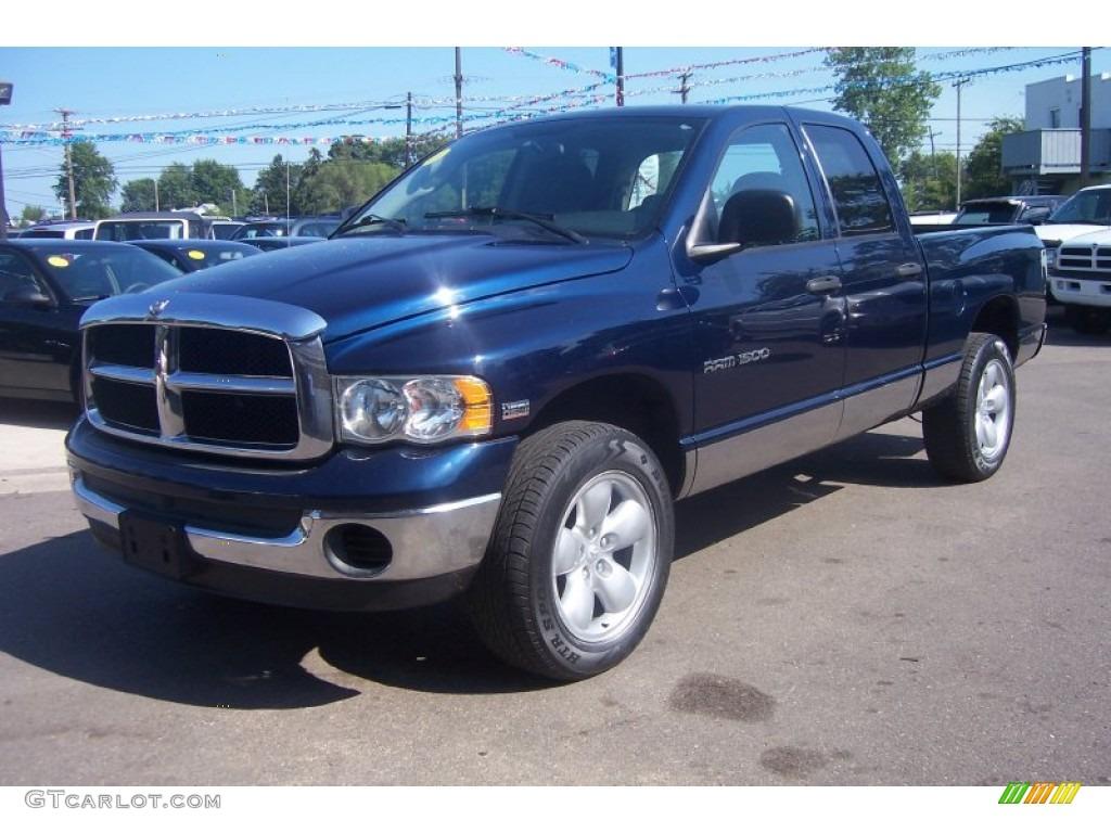 2004 patriot blue pearl dodge ram 1500 slt quad cab 4x4 70081714 car color. Black Bedroom Furniture Sets. Home Design Ideas