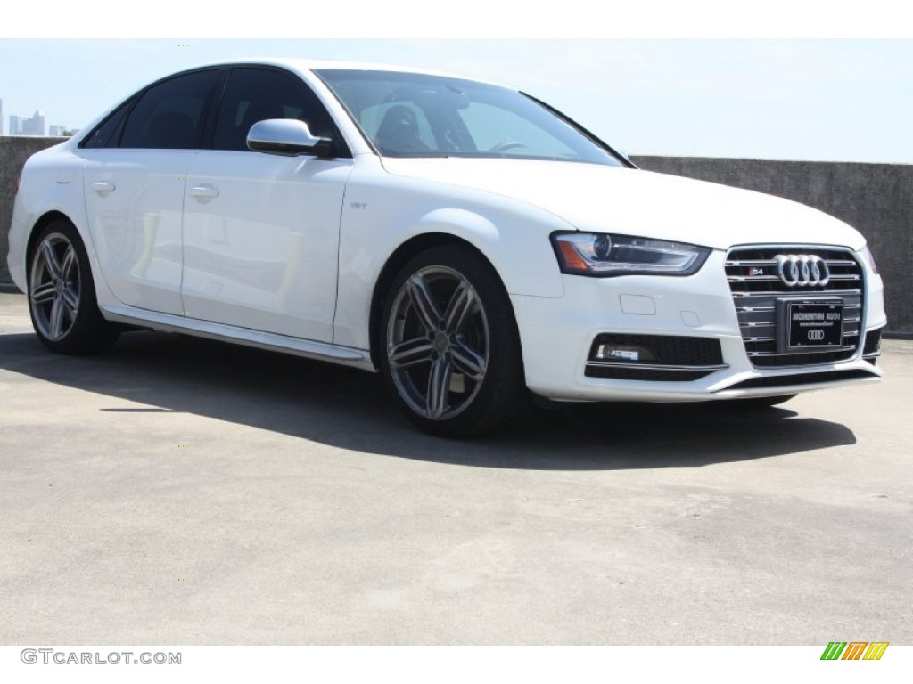 2013 ibis white audi s4 3 0t quattro sedan 70081661 car color galleries. Black Bedroom Furniture Sets. Home Design Ideas