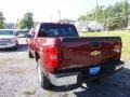 2013 Deep Ruby Metallic Chevrolet Silverado 1500 LT Crew Cab 4x4  photo #3