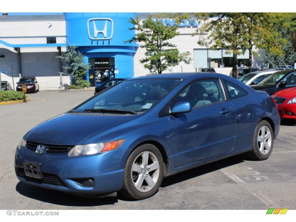 Delightful 2006 Civic EX Coupe   Royal Blue Pearl / Gray Photo #1