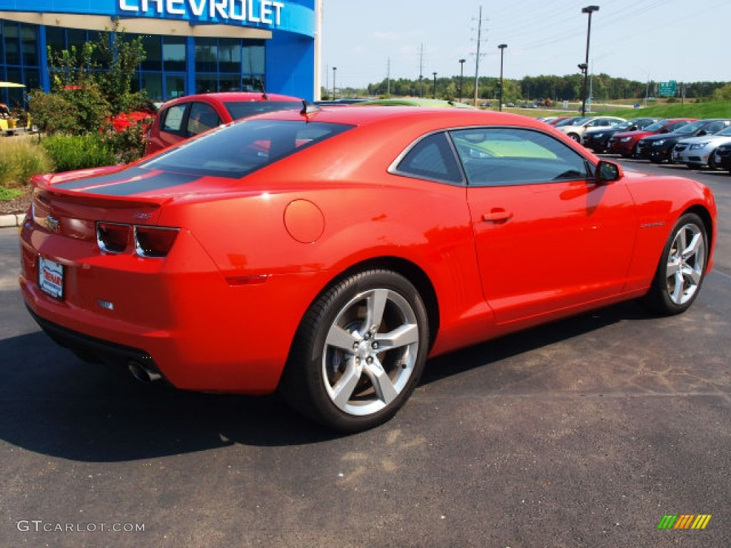 Inferno Orange Metallic 2010 Chevrolet Camaro Ss Rs Coupe