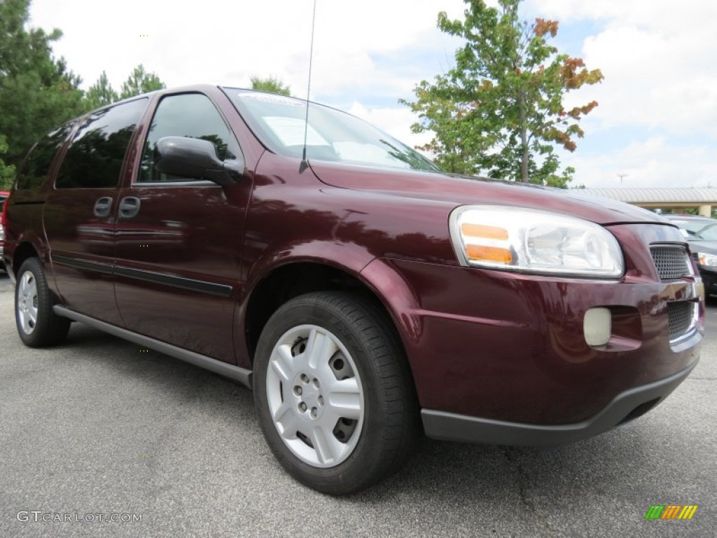 bordeaux red metallic 2006 chevrolet uplander ls exterior. Black Bedroom Furniture Sets. Home Design Ideas