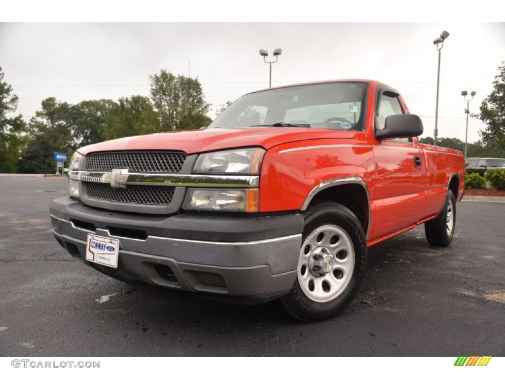 2005 Silverado 1500 Regular Cab - Victory Red / Dark Charcoal photo #1