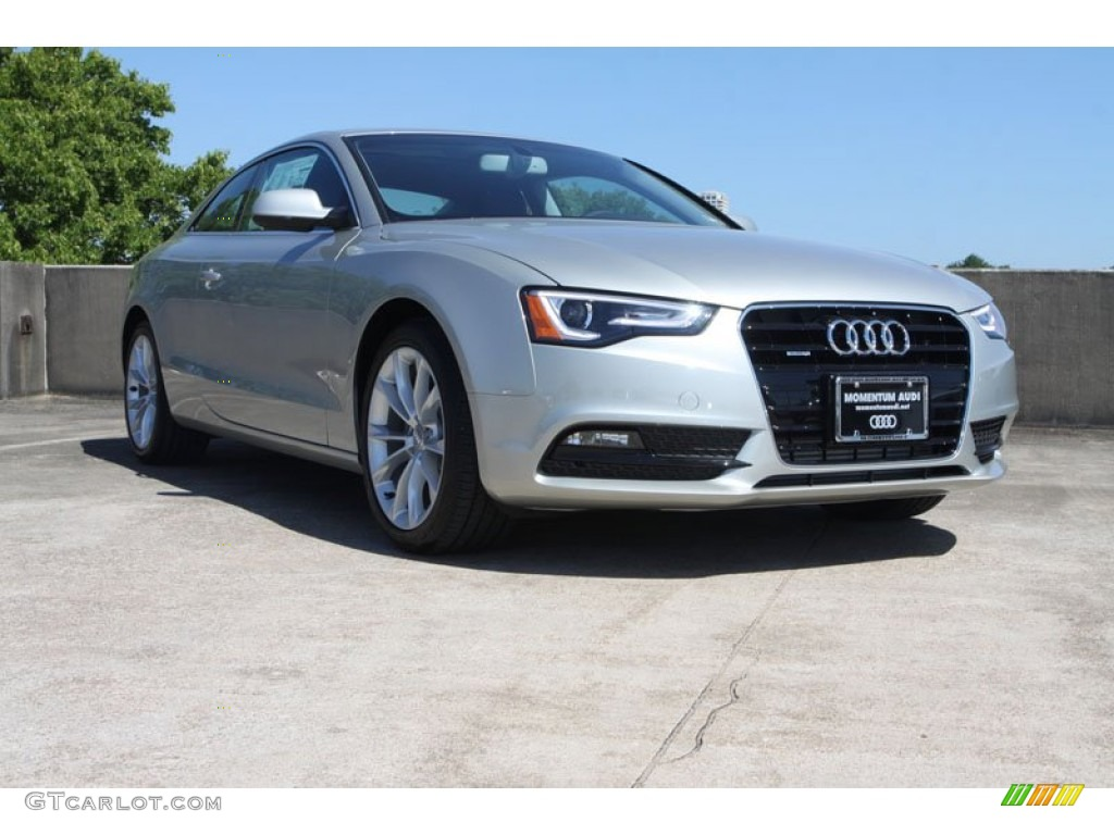 2013 A5 2.0T quattro Coupe - Cuvee Silver Metallic / Black photo #1