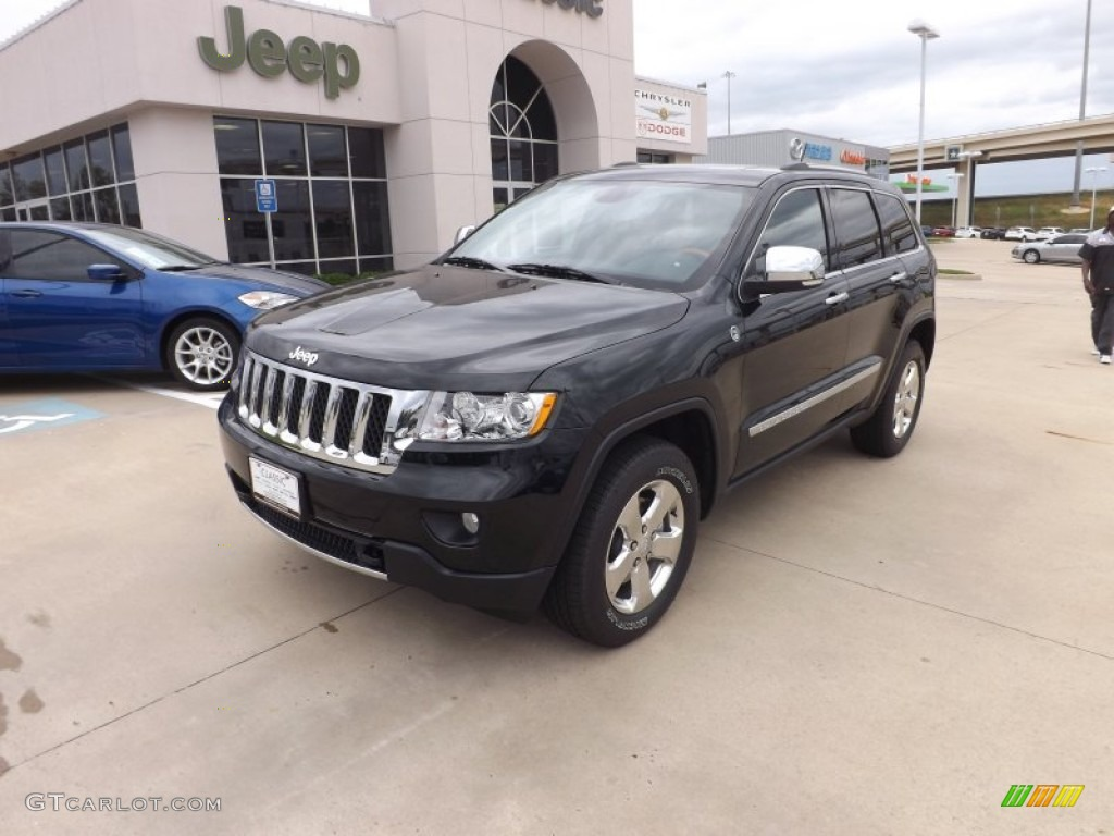 2013 Black Forest Green Pearl Jeep Grand Cherokee Overland 4x4 70133281 Car