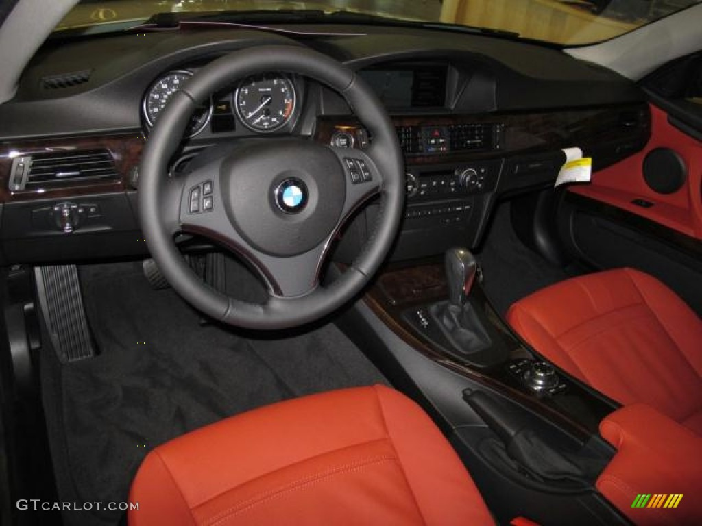 Coral Red Black Interior 2013 Bmw 3 Series 328i Coupe Photo 70153733