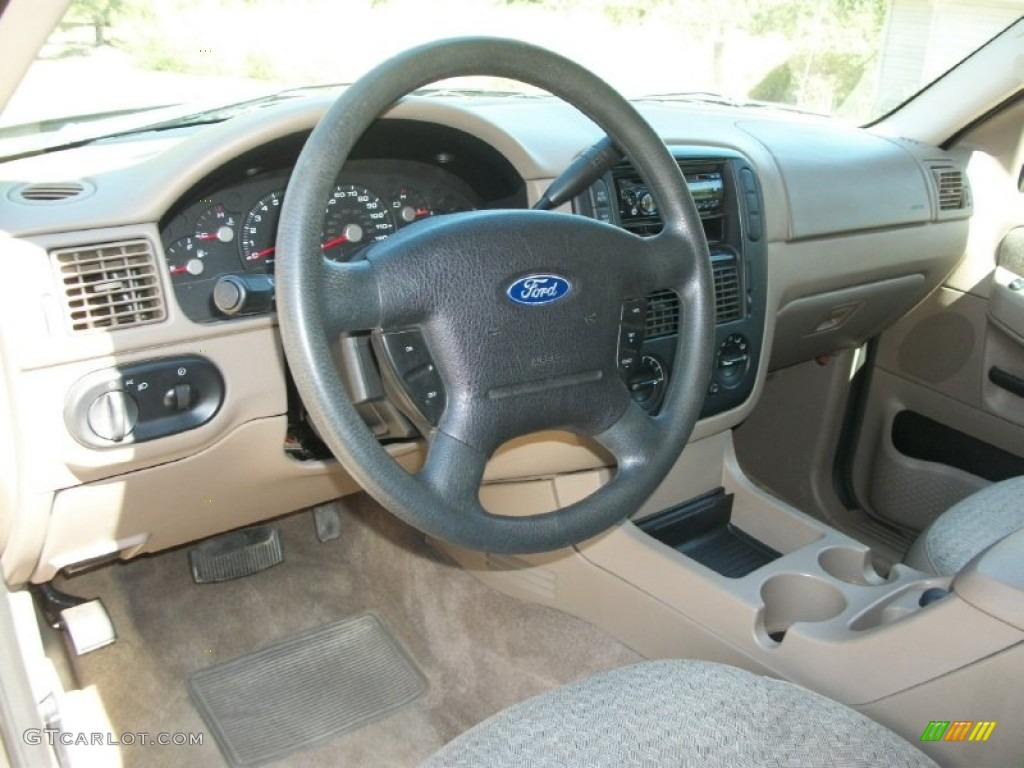 2003 Ford Explorer XLS 4x4 Medium Parchment Beige Dashboard Photo #70158299