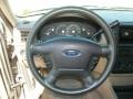 Medium Parchment Beige 2003 Ford Explorer XLS 4x4 Steering Wheel