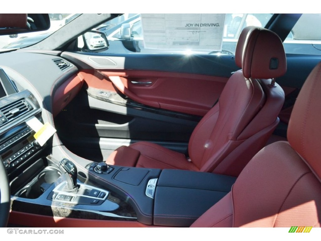 Vermillion Red Interior 2013 Bmw 6 Series 650i Coupe Photo 70160132