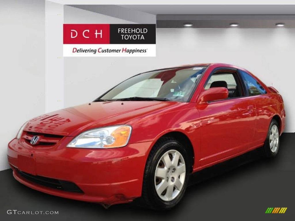 Honda civic 2002 ex red