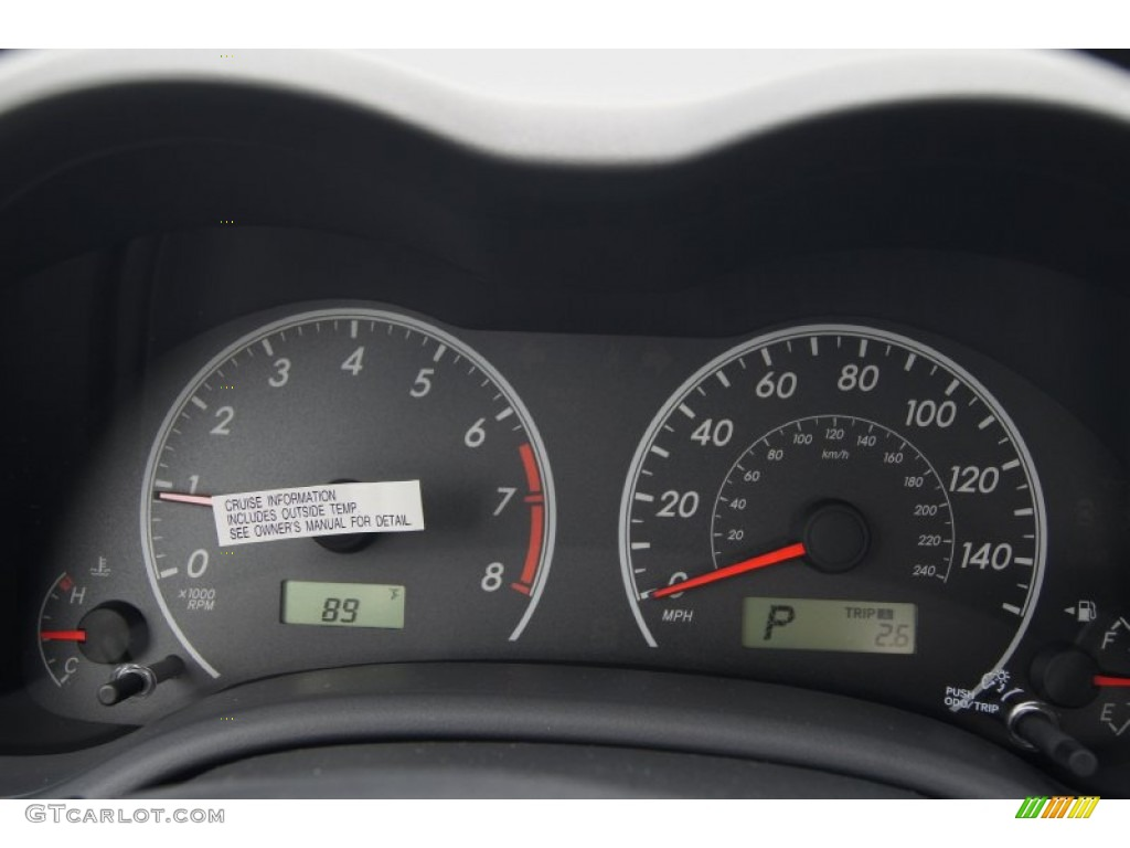 2013 Toyota Corolla LE Gauges Photo #70182293