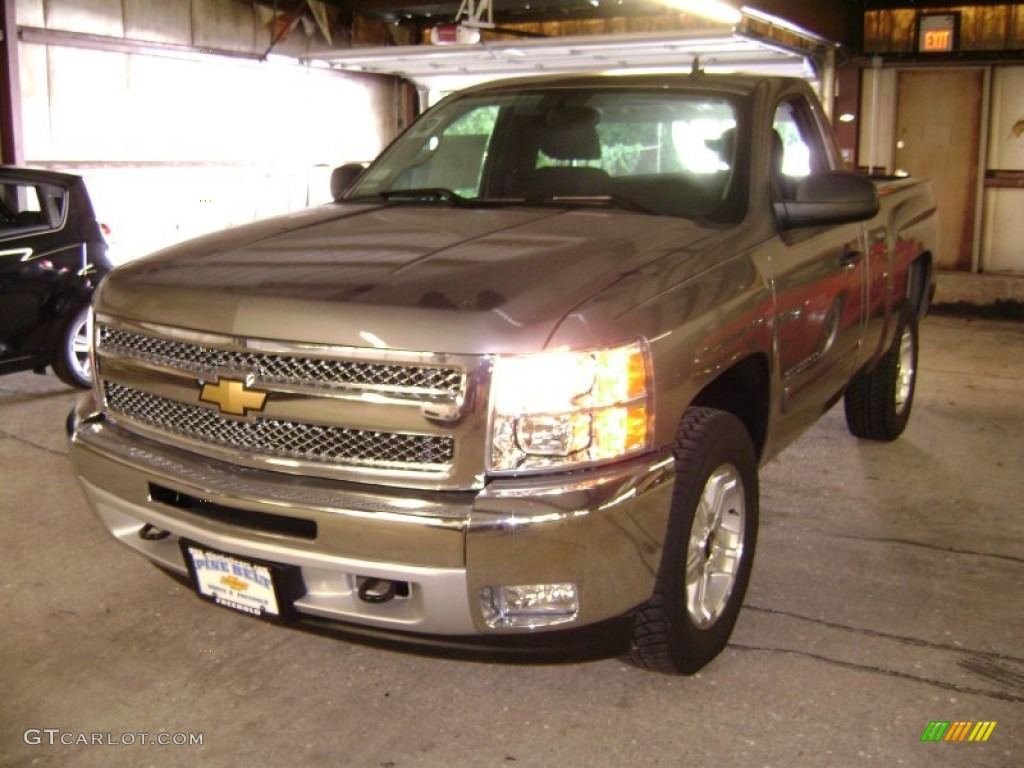2012 Silverado 1500 LT Regular Cab 4x4 - Mocha Steel Metallic / Ebony photo #1