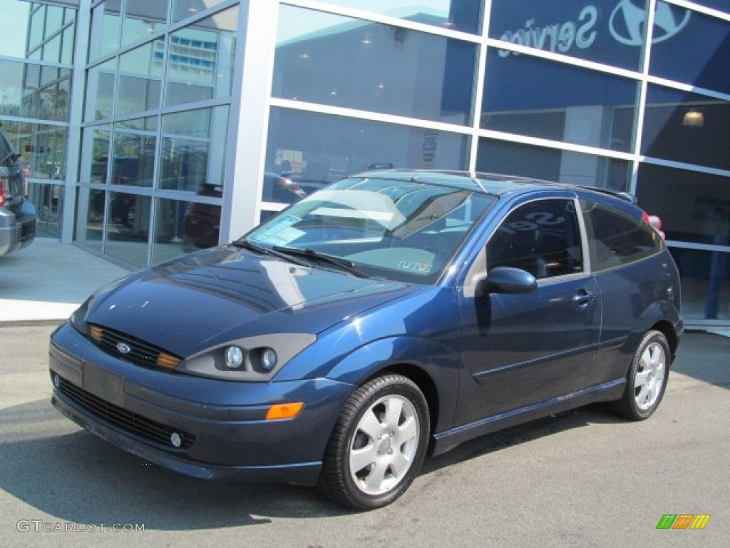 2001 Twilight Blue Metallic Ford Focus Zx3 Coupe 70132692