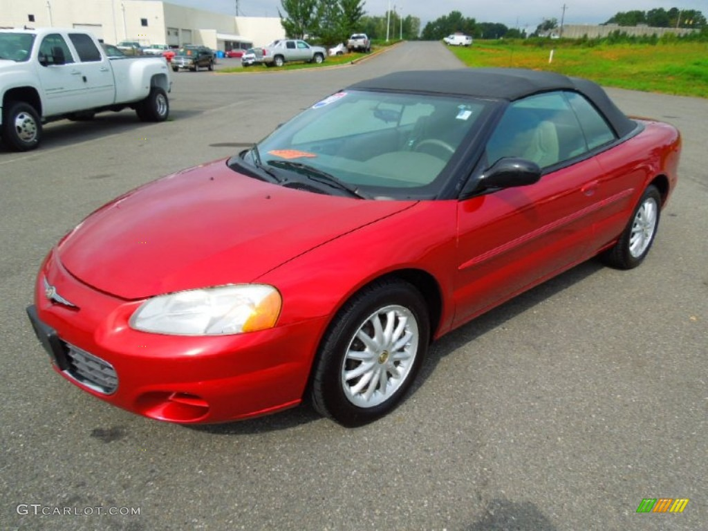2003 Sebring LX Convertible - Inferno Red Tinted Pearl / Taupe photo #1