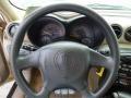 2003 Pontiac Grand Am Dark Taupe Interior Steering Wheel Photo