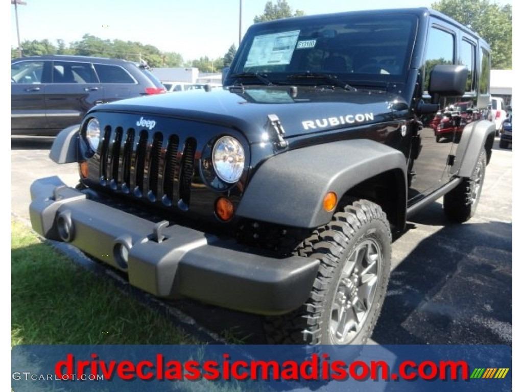 2013 Black Jeep Wrangler Unlimited Rubicon 4x4  70133356
