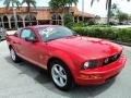 2007 Torch Red Ford Mustang V6 Premium Coupe  photo #2