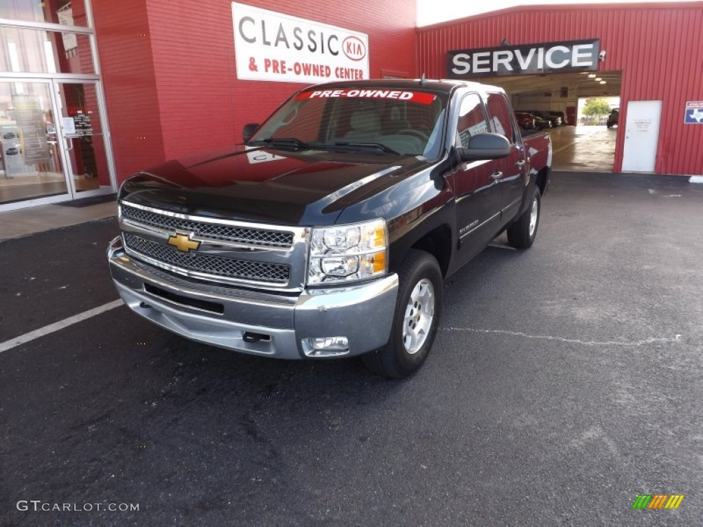 2012 Silverado 1500 LT Crew Cab 4x4 - Black Granite Metallic / Light Titanium/Dark Titanium photo #1