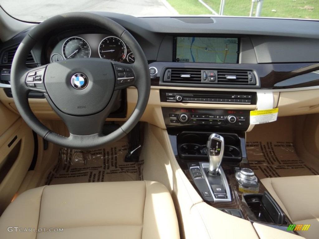 2013 bmw 5 series 528i sedan venetian beige dashboard photo 70229017