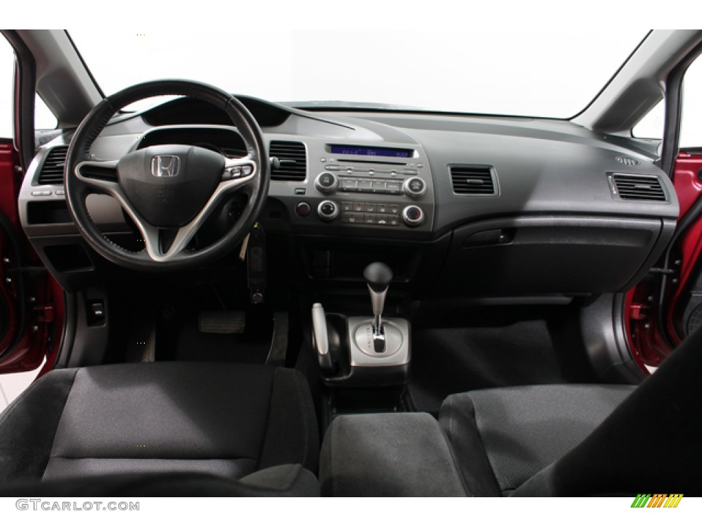 2010 honda civic lx s sedan black dashboard photo 70233430. Black Bedroom Furniture Sets. Home Design Ideas