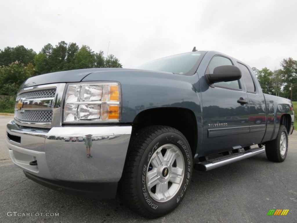 2012 Silverado 1500 LT Extended Cab 4x4 - Blue Granite Metallic / Ebony photo #3