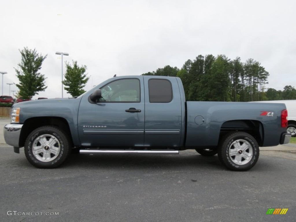 2012 Silverado 1500 LT Extended Cab 4x4 - Blue Granite Metallic / Ebony photo #4