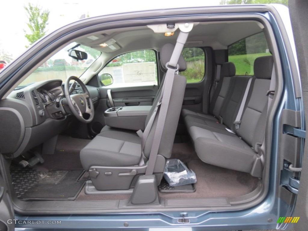 2012 Silverado 1500 LT Extended Cab 4x4 - Blue Granite Metallic / Ebony photo #11