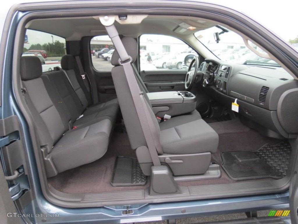 2012 Silverado 1500 LT Extended Cab 4x4 - Blue Granite Metallic / Ebony photo #13