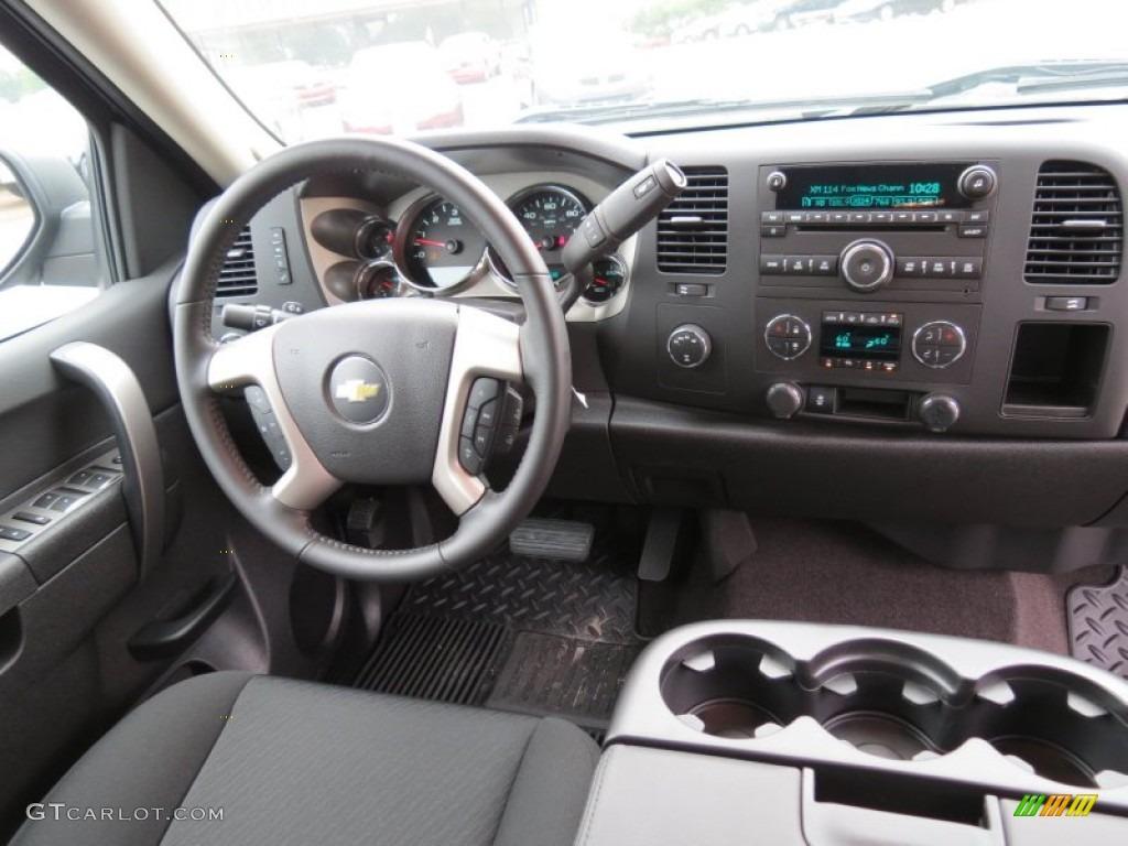 2012 Silverado 1500 LT Extended Cab 4x4 - Blue Granite Metallic / Ebony photo #14