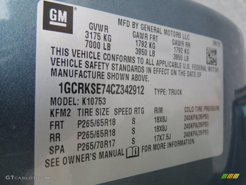 2012 Silverado 1500 LT Extended Cab 4x4 - Blue Granite Metallic / Ebony photo #19
