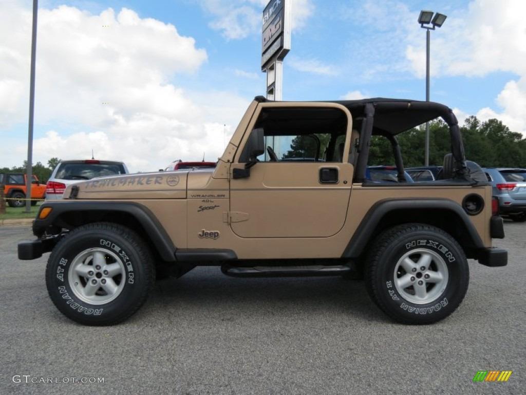 desert sand pearl 2000 jeep wrangler sport 4x4 exterior