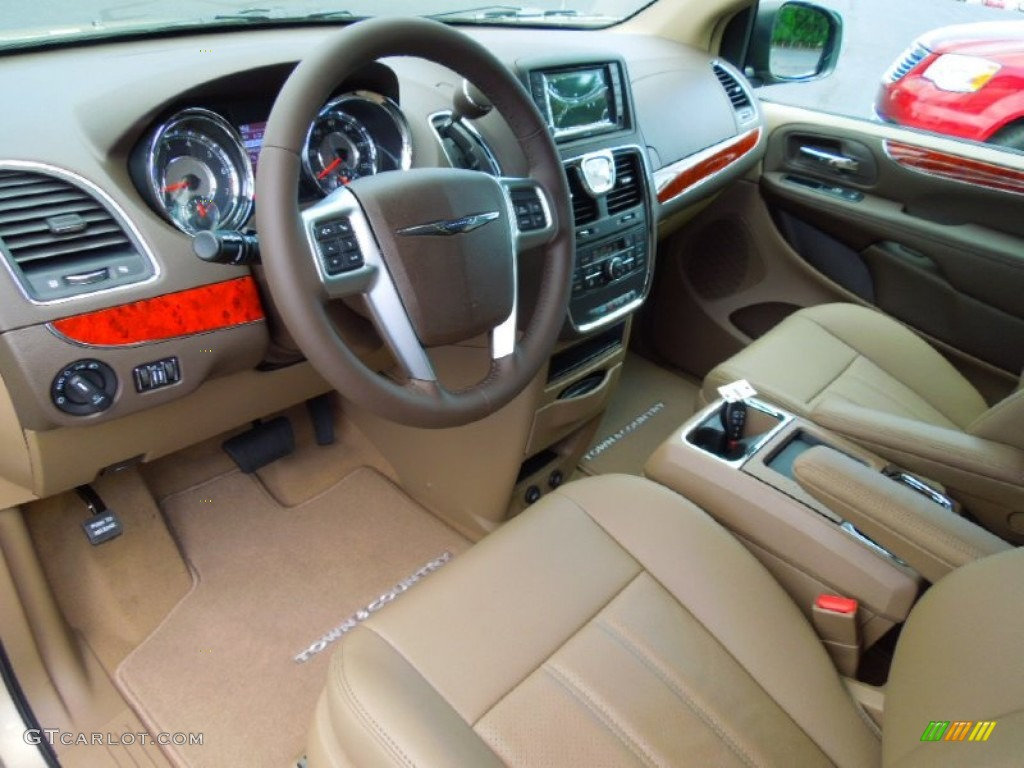 Dark Frost Beige/Medium Frost Beige Interior 2013 Chrysler Town U0026 Country  Touring   L
