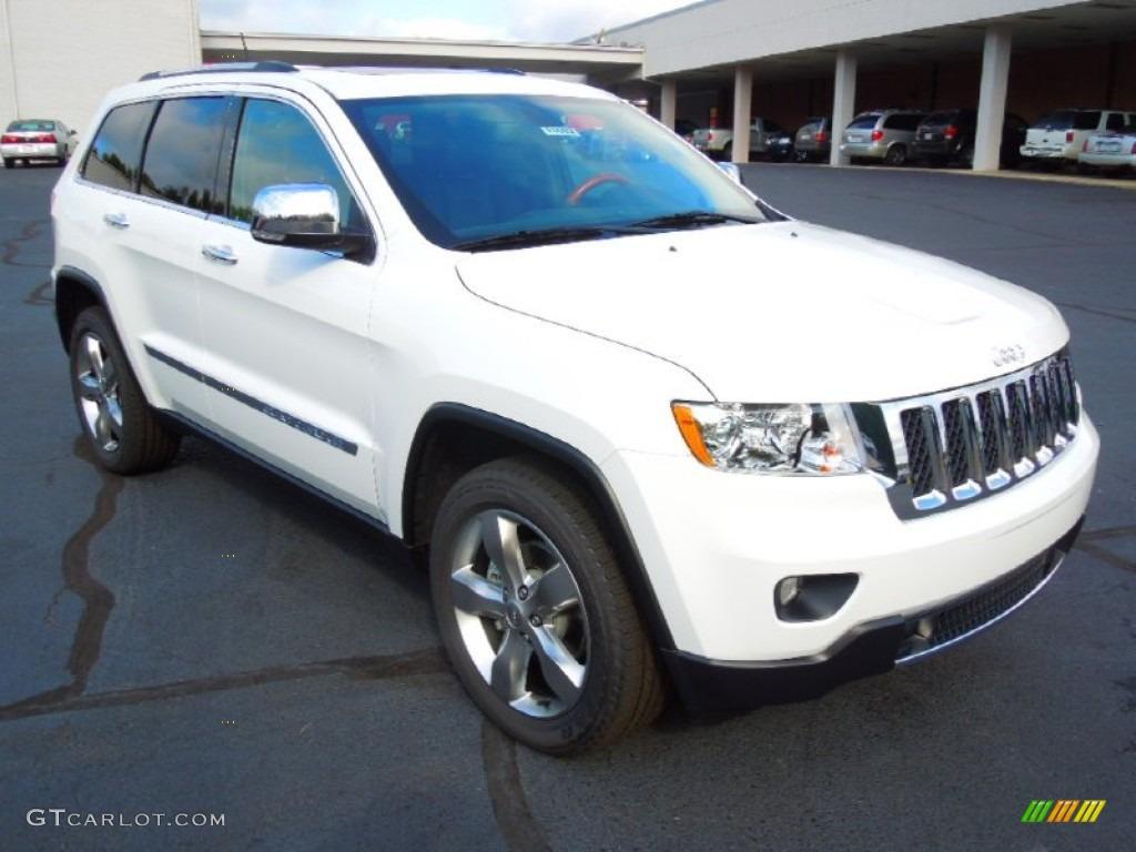 2013 bright white jeep grand cherokee overland 4x4 #70195901